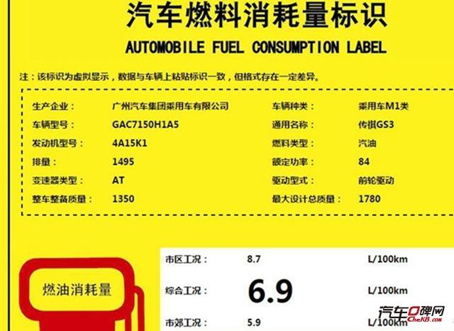 曝广汽传祺GS3动力信息 1.3T/1.5L可选